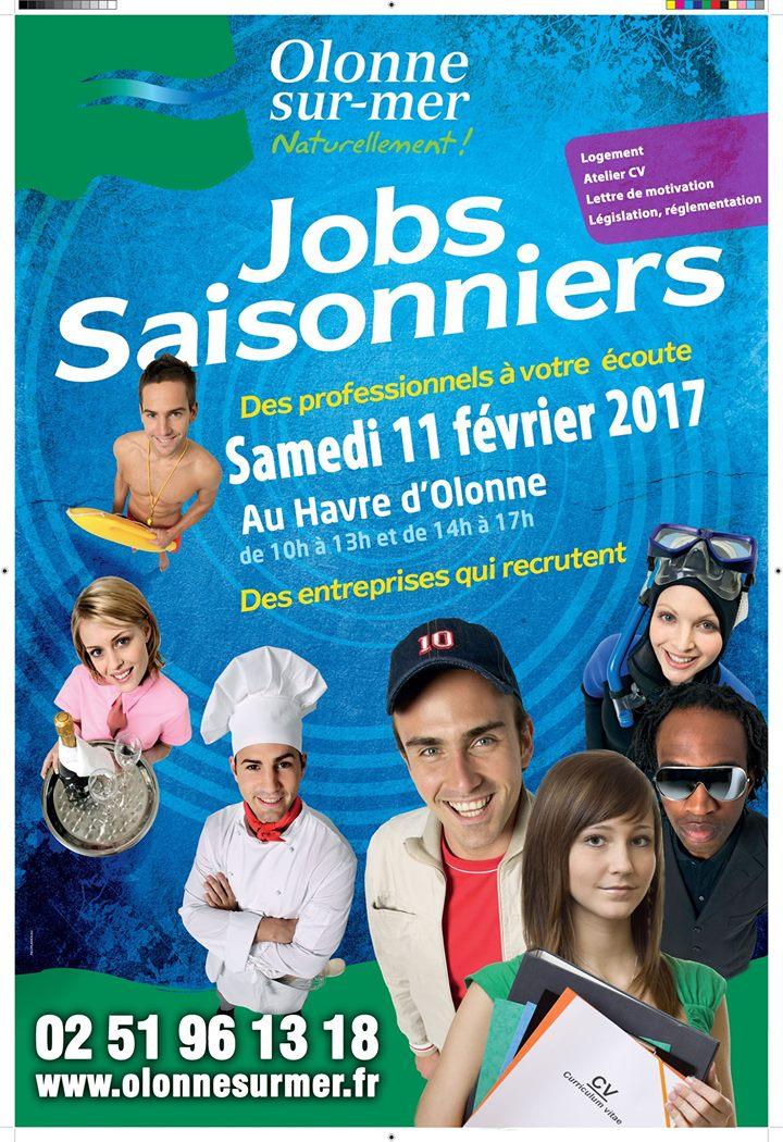 Nouvelle édition des jobs saisonniers samedi 11 février au Havre d'Olonne.