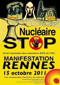 Manifestation Contre le Nucléaire et pour l'arrêt immédiat des chantiers EPR et THT