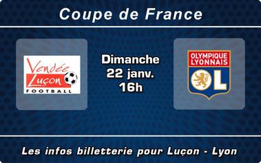 Dimanche 22 janvier à 16H00: Luçon face à l'Olympique Lyonnais à la Beaujoire