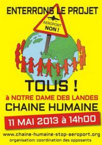 Chaîne humaine à NDDL le 11 mai,  inscrivez-vous !