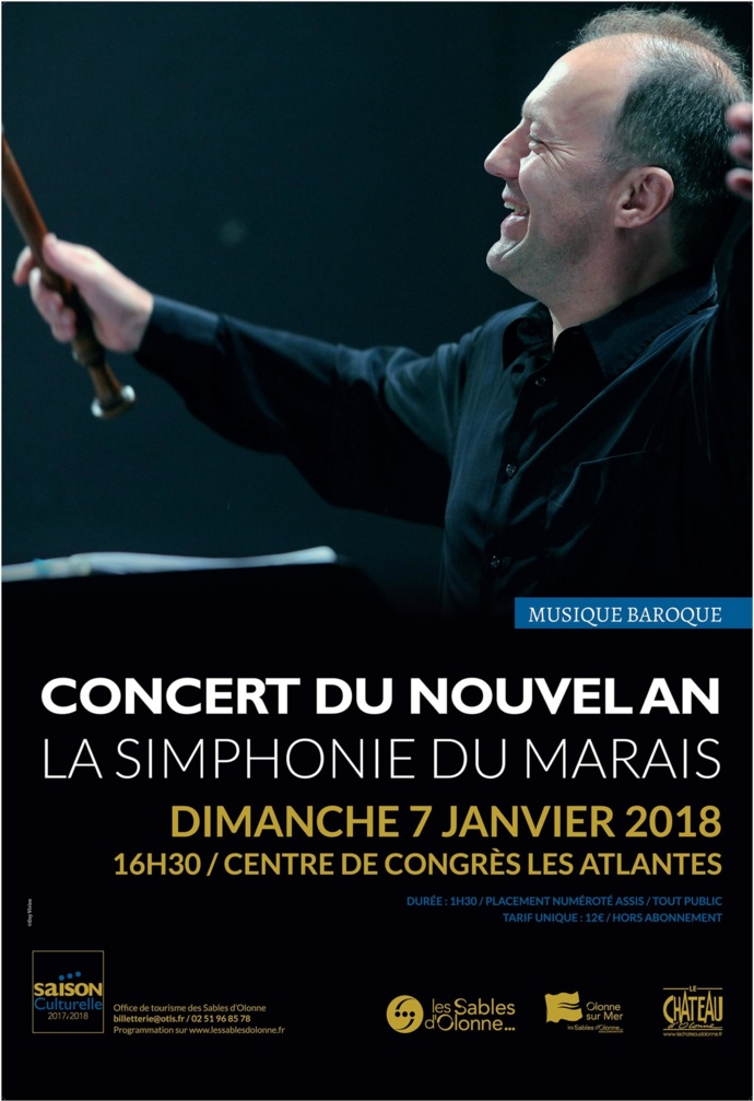 Concert du nouvel an par la Simphonie du Marais le 7 janvier