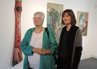 Annie Chaissac et Gaëlle Rageot - Exposition Gaston Chaissac - Chroniques au Musée de l'Abbaye Sainte-Croix