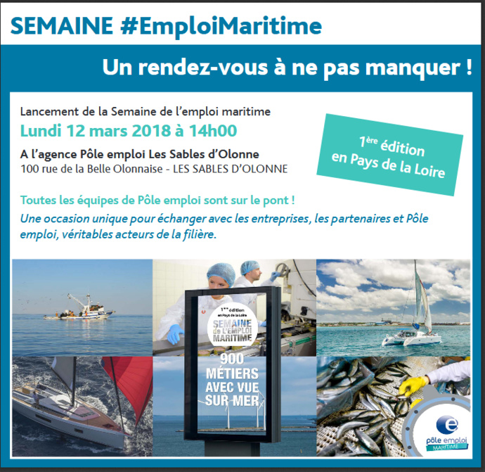 Semaine de l'emploi maritime à partir de ce lundi