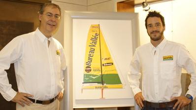 De gauche à droite : Bruno Peyrolles, Président de Bureau Vallée et Louis Burton Crédit photo: Abdelilah Chaoui