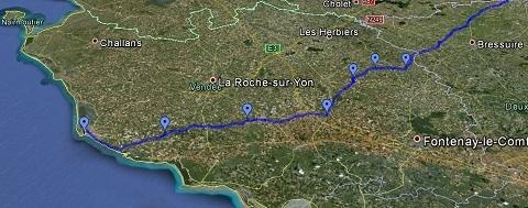 Des cyclotouristes vendéens au départ de Paris