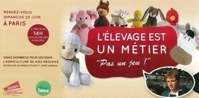 """Rendez-vous le 23 juin à Paris : """"L'élevage est un métier, pas un jeu"""""""