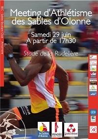 Grand rendez-vous d'athlétisme aux Sables d'olonne le samedi 29 juin