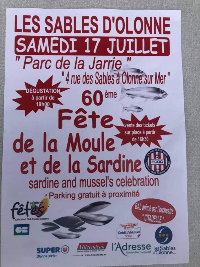 La 60 ème édition de la Fête de la Moule et de la Sardine  le samedi 17 juillet