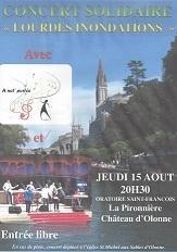 """Concert de """"Solidarité"""" au Château d'Olonne le 15 août 2013"""