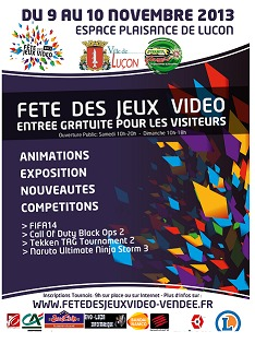 Luçon : fête des Jeux Vidéo 2013 les 9 et 10 novembre