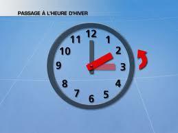 Dimanche 27 octobre : Changement d'heure