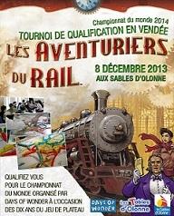 Les Sables d'Olonne : tournoi des aventuriers du rail le 8 décembre 2013