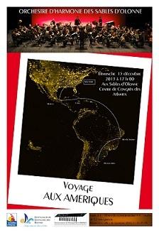 L'Orchestre d'Harmonie des Sables d'Olonne en représentation le dimanche 15 décembre