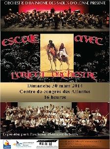 L'Orchestre d'Harmonie des Sables d'Olonne en représentation ce dimanche 30 mars