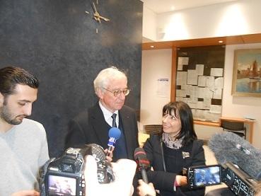 Didier Gallot en compagnie de Brigitte Tesson, première adjointe