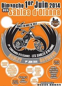 Parade d'Harley Davidson et de voitures américaines aux Sables d'Olonne