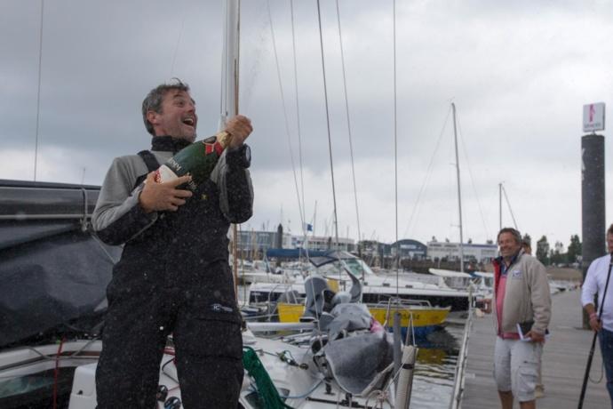Solitaire du Figaro: Gildas Mahé premier de l'étape