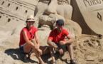 Sergi et Montserrat, sculpteurs professionnels sont aux Sables d'Olonne