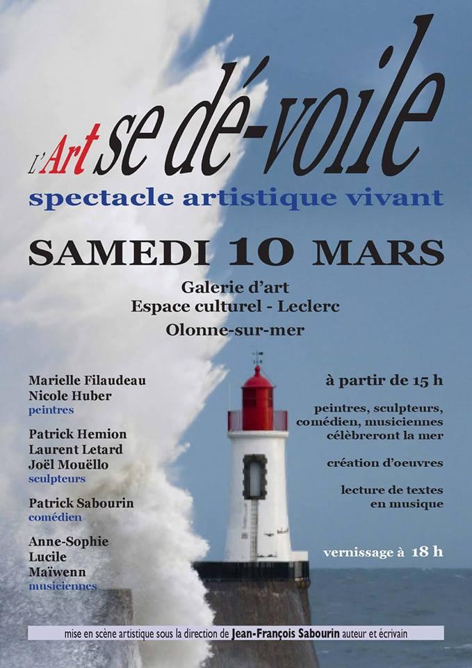 L'Art se dé-voile ce samedi à la Galerie d'Art  Espace culturel du Leclerc