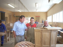 Photo: Jean claude Raveneau . Le Centre de formation  des apprentis de Bourgenay forment les jeunes aux métiers du bois