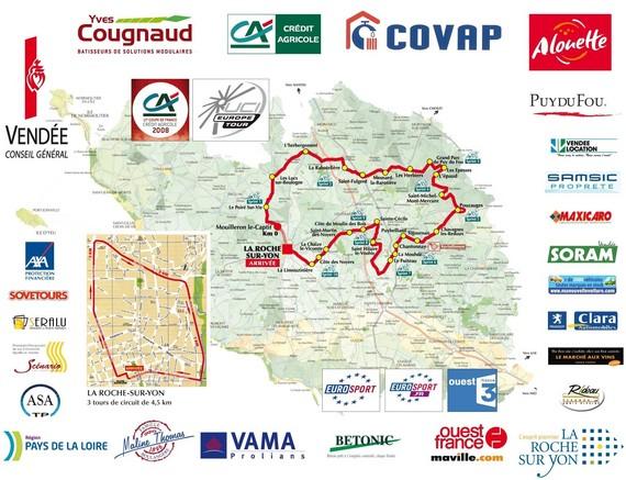 128 coureurs  au départ ce dimanche midi à la  Roche-sur-Yon du Tour de  Vendé 2008