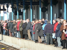 Sur les quais de la gare des Sables d'Olonne, on se serait cru aux heures de pointe dans le métro !
