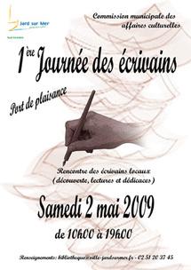 Journée des écrivains à Jard-sur-Mer le samedi 2 mai