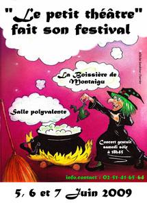 Festival de théâtre à la Boissière de Montaigu les 5,6 et 7 juin