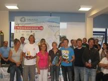 Crédit photo: transgascogne2009. La remise des prix de la 1° étape à  Ribadeo en Espagne