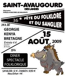 Saint-Avaugourd-des-Landes:36 ème fête du Folklore et du Sanglier le samedi 15 août