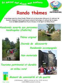 Le Comité Départemental du Sport en Milieu Rural (CDSMR) propose ses activités