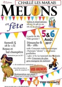 Chaillé-les-Marais: fête du melon les 5 et 6 août