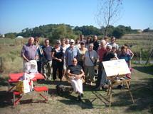 Un collectif d'artistes plasticiens professionnels investit le marais brûlé de Talmont-Saint-Hilaire