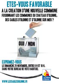 Pays des Olonnes: vote ce dimanche 29 novembre sur la fusion des trois communes des Olonnes