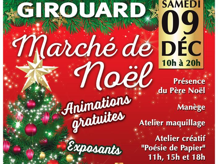 Le Girouard: Marché de Noël le samedi 9 décembre de 10h00 à 20h00