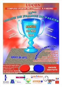 Luçon: 11ème Coupe de France de Palet Fonte le samedi 1°mai