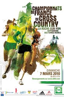 Championnat de France de cross-country à la Roche-sur-Yon le dimanche 7 mars