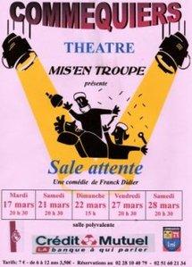 Théâtre à Commequiers le mardi 16 mars à 20h30