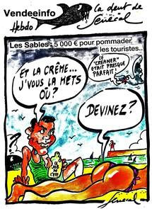 Les Sables d'Olonne: 5000 euros pour badigeonner les touristes de crème solaire cet été