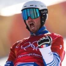 Il l'a fait: Pierre Vaultier remporte la médaille d'or en snowboard cross aux Jo de Pyeongchang