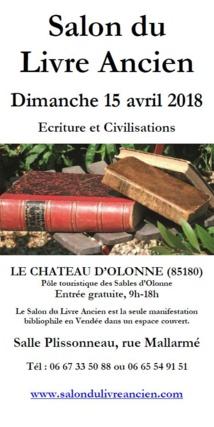 Le Château d'Olonne: salon du livre ancien de salle Plissonneau
