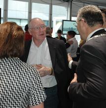 Marcel Albet, Maire des Herbiers, accompagné d'Ahmed Aboutaleb, Maire de Rotterdam
