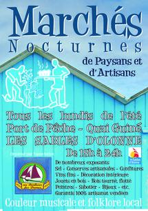 Marché artisanal nocturne aux Sables d'Olonne