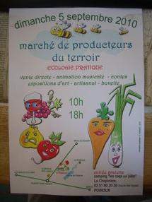 Au Camping « Les Coqs en Pâte » à la Chopinière, à POIROUX, un groupe d'amis vous propose un  Marché des Producteurs dimanche 5 septembre  de 10h à 18 h.