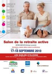 Salon de la retraite active aux Sables d'Olonne les 17 et 18 septembre au centre de congrès Les Atlantes