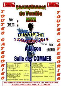 Championnats de Vendée kata ce dimanche à Luçon
