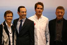 """Morgan Lagravière, vainqueur de la sélection """"Vendée Challenge"""" présenté officiellement sur le stand Vendée Tourisme"""
