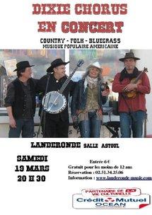 Landeronde: concert de DIXIE CHORUS le 19 mars à 20h30 à