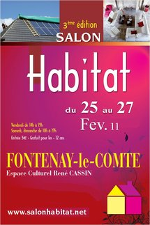 3ème édition du Salon de l'Habitat de Fontenay Le Comte du 25 au 27 février