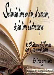 Salon du livre ancien, d'occasion et du livre électronique Samedi 9 et dimanche 10 avril au Château-d'Olonne